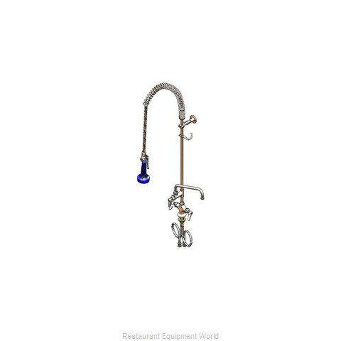 TS Brass B-0113-A06-B08 Pre-Rinse Faucet Assembly, with Add On Faucet