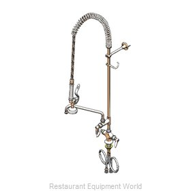 TS Brass B-0113-ADF06-B Pre-Rinse Faucet Assembly, with Add On Faucet