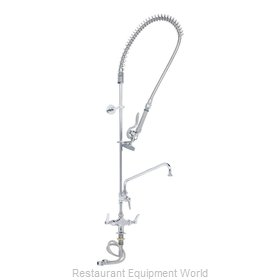 TS Brass B-0113-ADF08-B Pre-Rinse Faucet Assembly, with Add On Faucet