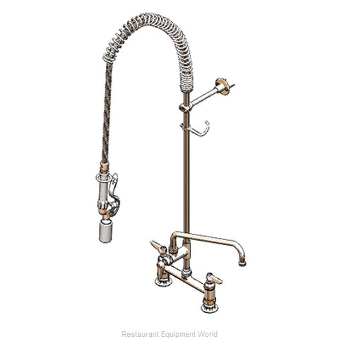 TS Brass B-0123-12-CR-BC Pre-Rinse Unit (Magnified)