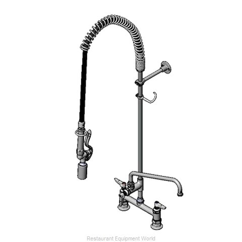 TS Brass B-0123-ADF12-BJ Pre-Rinse Faucet Assembly, with Add On Faucet