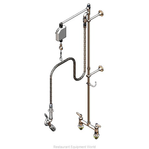 TS Brass B-0128 Pre-Rinse Faucet Assembly (Magnified)