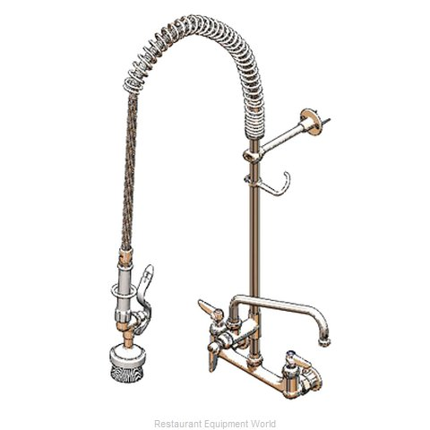 TS Brass B-0133-ADF16-BR Pre-Rinse Faucet Assembly, with Add On Faucet