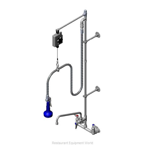TS Brass B-0140-08 Pre-Rinse Unit (Magnified)