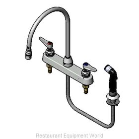 TS Brass B-1174 Faucet with Spray Hose