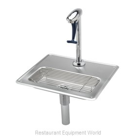TS Brass B-1230-12 Glass Filler Station with Drain Pan