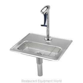 TS Brass B-1230 Glass Filler Station with Drain Pan