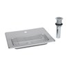 TS Brass B-1231 Glass Filler Station with Drain Pan