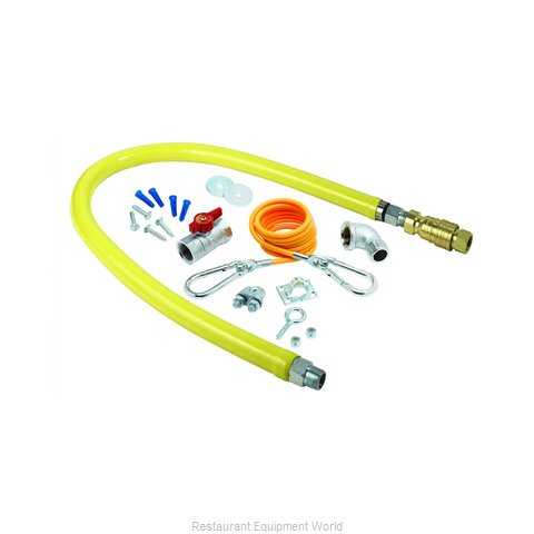 TS Brass HG-4D-24K Gas Connector Hose Kit