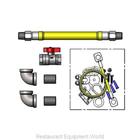 TS Brass HG-4F-48SK-FF Gas Connector Hose Kit