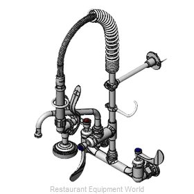 TS Brass MPZ-8WWN-08-CR Pre-Rinse Faucet Assembly, Mini