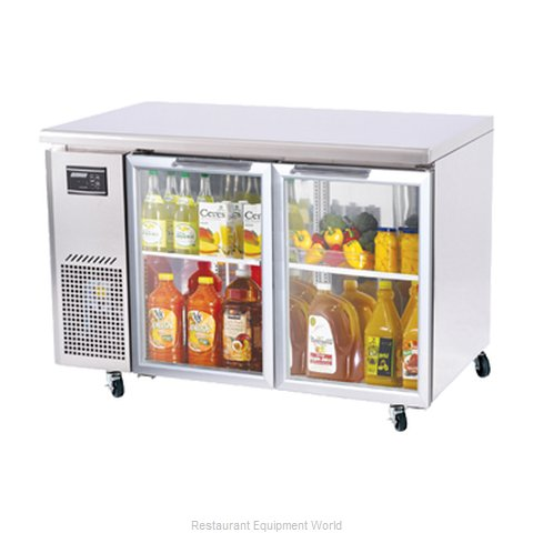Turbo Air JUR-48-G Reach-in Undercounter Refrigerator 2 section
