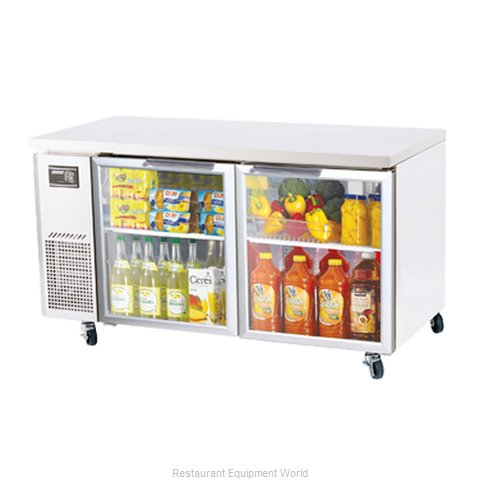 Turbo Air JUR-60-G Reach-in Undercounter Refrigerator 2 section