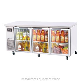 Turbo Air JUR-72-G Reach-in Undercounter Refrigerator 3 section