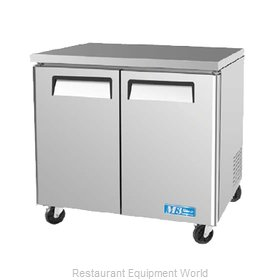 Turbo Air MUF-36 Freezer, Undercounter, Reach-In