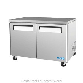 Turbo Air MUF-48 Reach-In Undercounter Freezer 2 section