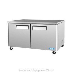 Turbo Air MUF-60 Reach-In Undercounter Freezer 2 section
