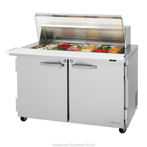 Turbo Air PST-48-18-N-CL Refrigerated Counter, Mega Top Sandwich / Salad Unit