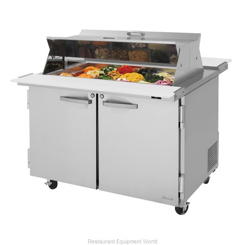 Turbo Air PST-48-18-N-DS Refrigerated Counter, Mega Top Sandwich / Salad Unit