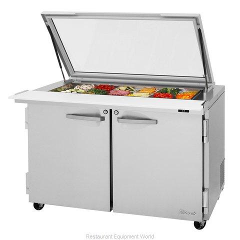 Turbo Air PST-48-18-N-GL Refrigerated Counter, Mega Top Sandwich / Salad Unit