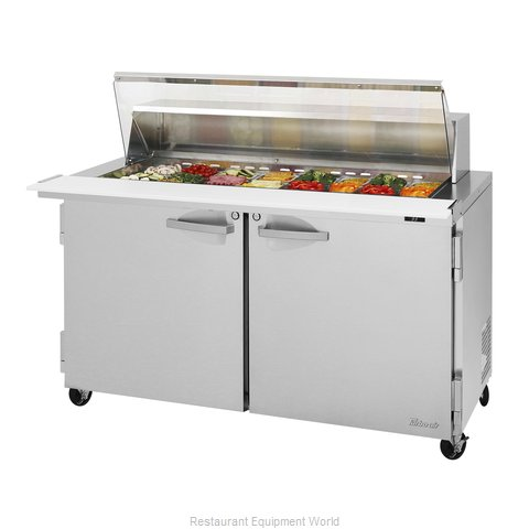 Turbo Air PST-60-24-N-CL Refrigerated Counter, Mega Top Sandwich / Salad Unit