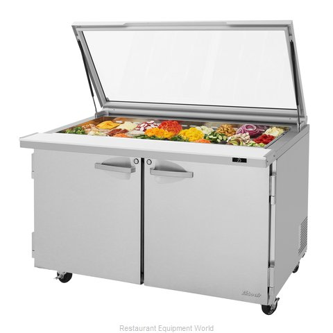 Turbo Air PST-60-24-N-GL Refrigerated Counter, Mega Top Sandwich / Salad Unit