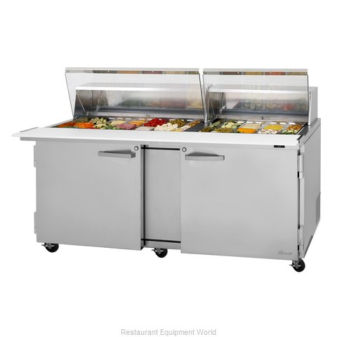 Turbo Air PST-72-30-N-CL Refrigerated Counter, Mega Top Sandwich / Salad Unit