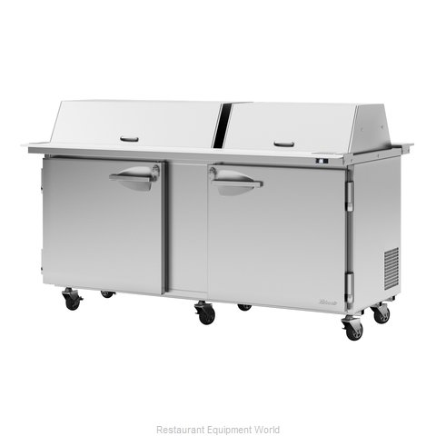 Turbo Air PST-72-30-N-DS Refrigerated Counter, Mega Top Sandwich / Salad Unit