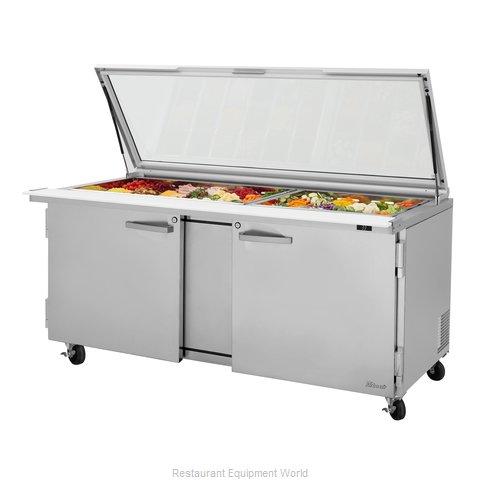 Turbo Air PST-72-30-N-GL Refrigerated Counter, Mega Top Sandwich / Salad Unit
