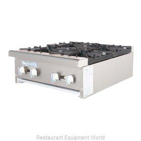 Turbo Air TAHP-24-4 Hotplate, Countertop, Gas