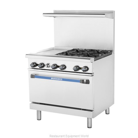 Turbo Air TARG-12G4B Range 36 4 open burners 12 griddle