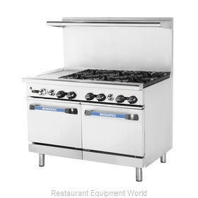 Turbo Air TARG-12G6B Range 48 6 open burners 12 griddle