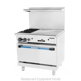 Turbo Air TARG-24G2B Range 36 2 open burners 24 griddle