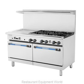 Turbo Air TARG-24G6B Range 60 6 Open Burners 24 Griddle