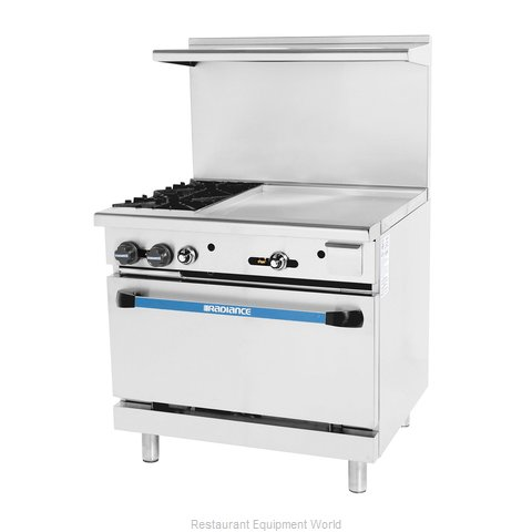 Turbo Air TARG-2B24G Range 36 2 open burners 24 griddle