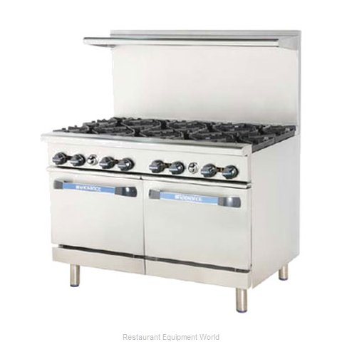 Turbo Air TARG-36G2B Range 48 2 open burners 36 griddle (Magnified)