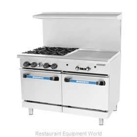 Turbo Air TARG-4B24G Range 48 4 Open Burners 24 griddle