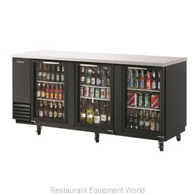 Turbo Air TBB-4SG Back Bar Cabinet, Refrigerated