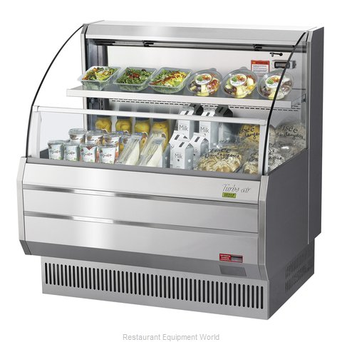 Turbo Air TOM-40LS-N Merchandiser, Open Refrigerated Display