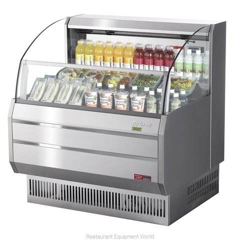 Turbo Air TOM-40SS-N Merchandiser, Open Refrigerated Display