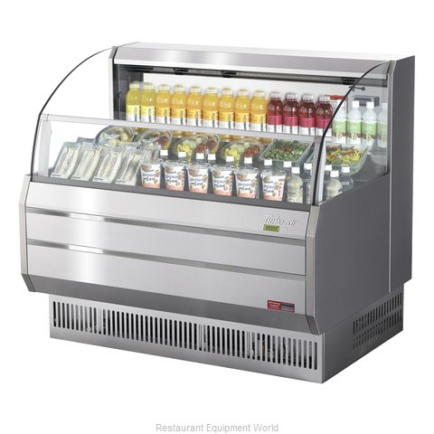 Turbo Air TOM-50SS-N Merchandiser, Open Refrigerated Display