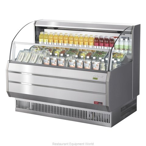 Turbo Air TOM-60SS-N Merchandiser, Open Refrigerated Display