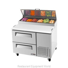 Turbo Air TPR-44SD-D2 Pizza Prep Table Refrigerated