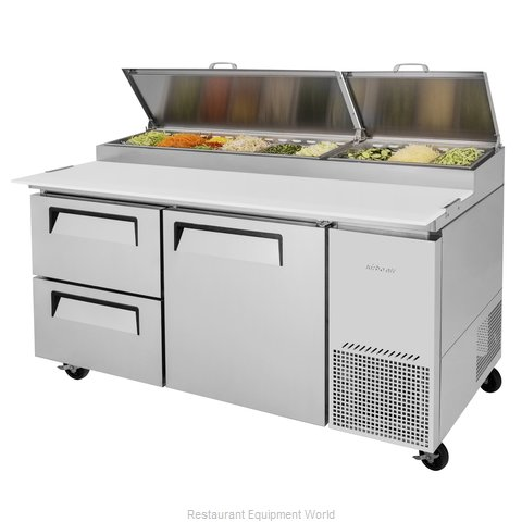 Turbo Air TPR-67SD-D2-N Refrigerated Counter, Pizza Prep Table
