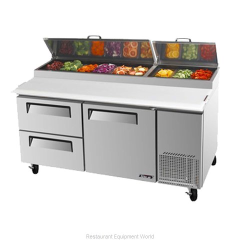Turbo Air TPR-67SD-D2 Pizza Prep Table Refrigerated