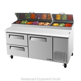 Turbo Air TPR-67SD-D2 Refrigerated Counter, Pizza Prep Table