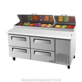 Turbo Air TPR-67SD-D4 Refrigerated Counter, Pizza Prep Table
