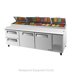 Turbo Air TPR-93SD-D2 Pizza Prep Table Refrigerated