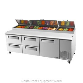 Turbo Air TPR-93SD-D4 Pizza Prep Table Refrigerated