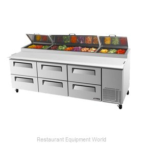 Turbo Air TPR-93SD-D6 Refrigerated Counter, Pizza Prep Table